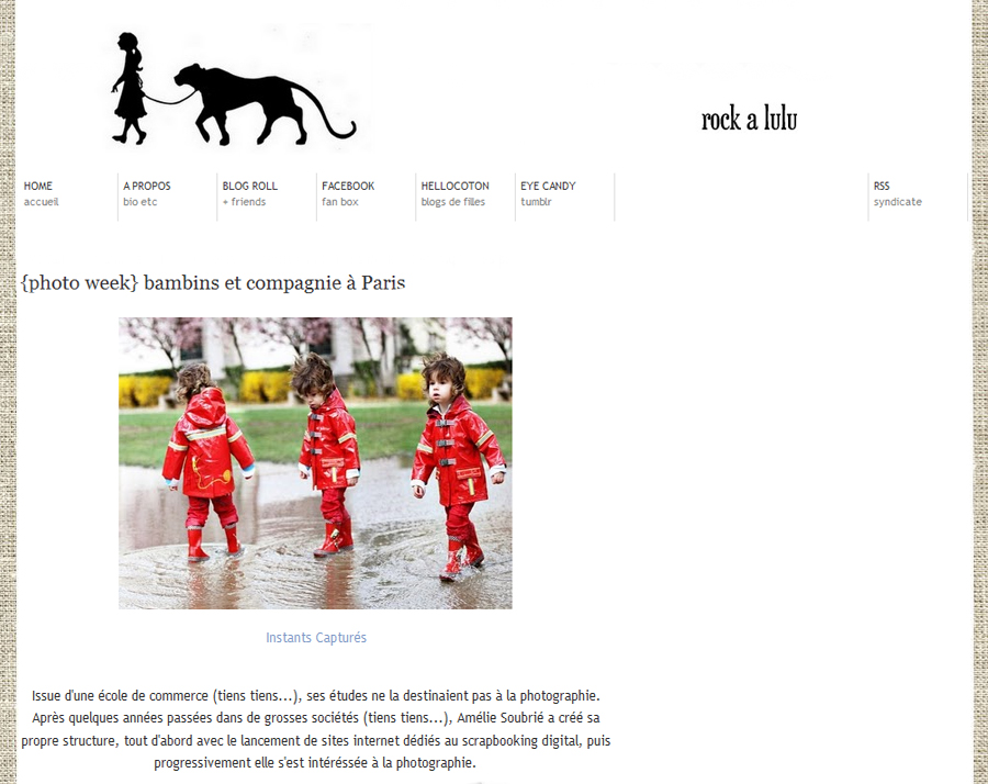 rock@lulu Instants Captures sur le Blog Rock@Lulu