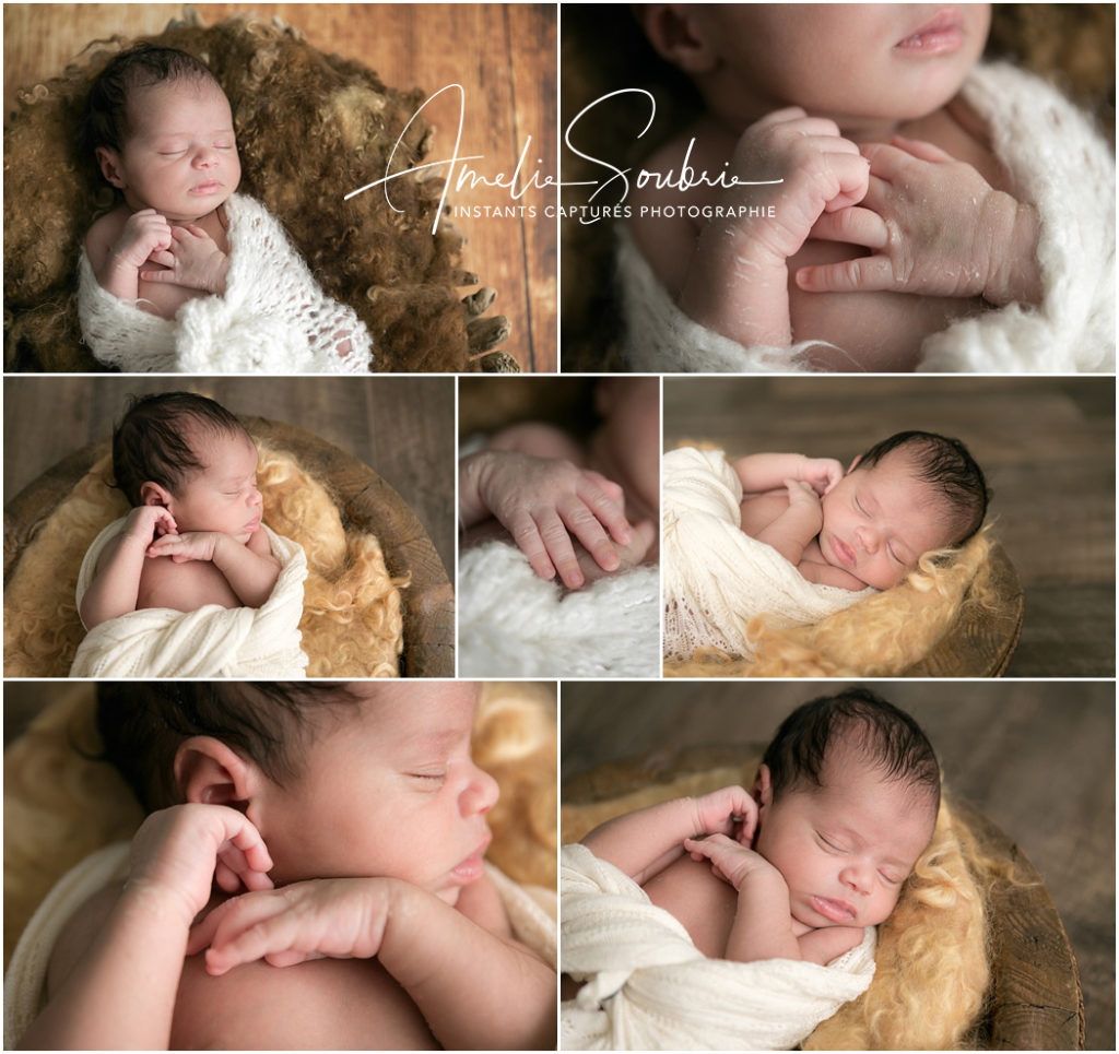 Photographe bébé paris - Des teintes orangers pour magnifier