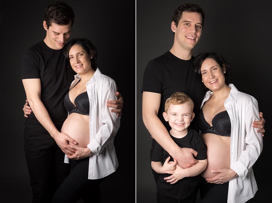 Photo grossesse en famille